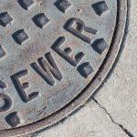 blocked sewer drain pipe